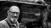 Trains and Drivers (Neil. Moralee) Tags: neilmoralee man face portrait beard glasses bald balding old mature train driver engineer locamotive steam black white bw bandw blackandwhite mono monochrome happy smile uk west somerset railway westsomersetrailway neil moralee nikon d7200 candid