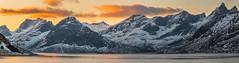 Panorama, Krystad, Lofoten (catohansen) Tags: lofoten lofotenislands krystad flakstad mountains sea winter sunlight sunset colours norway norge panorama pano