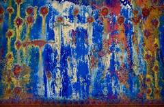 Abstract (StephenReed) Tags: abstract art abstractart metal rust paint chippedpaint rivets colors weathered nikond3300 stephenreed