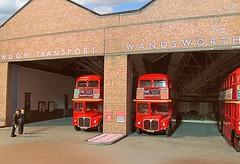Wandsworth Garage (kingsway john) Tags: londonn transport bus garage 176 scale model oo gauge kingsway card kit models rm routemaster efe diorama wd
