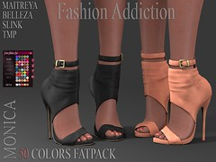 MONICA SHOES (Owner Fashion Addiction) Tags: slink maitreya belleza tmp shoes fashionaddiction secondlife physique venus isis freya hourglass booties