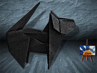 Origami Cat by Fuchimoto Muneji