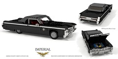 Imperial 1969 LeBaron Coupe (lego911) Tags: imperial lebaron hardtop coupe 1969 1960s classic v8 440 chrysler fuselage luxury personal auto car moc model miniland lego lego911 ldd render cad povray cbody lwb usa america american fullsize loop