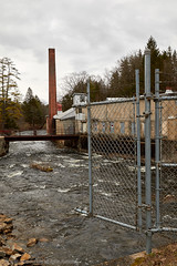 2018-04-29 16-23-14 (_MG_3354) (mikeconley) Tags: newyork eriecanal abandoned river water gate chimney smokestack factory creek milton kayaderosseras usa