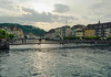 Luzern Reuss (nadjawidmer) Tags: water luzern switzerland color city sky bridge