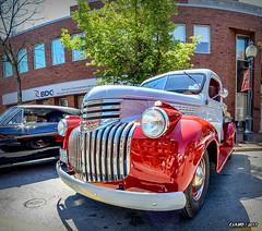 1941 Chevrolet pickup truck (kenmojr) Tags: 2017 antique atlanticnationals auto car classic moncton newbrunswick show vehicle vintage centennialpark downtown kenmo kenmorris carshow 1941 chevy chevrolet pickup truck canada