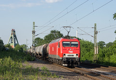 156 003 MEG mit Kesselwagen bei Oberaden (shawnglaeser) Tags: db meg kesselwagen lok nrw oberaden zeche haus aden zug sun sonne br156 green schiene train signal