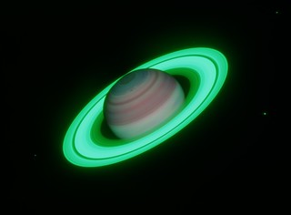 Saturn in Methane Bands