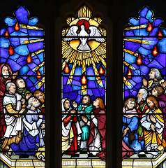 They Were All Filled (Lawrence OP) Tags: biblical pentecost holyspirit dove fire apostles stainedglass window lambeth london stmarys