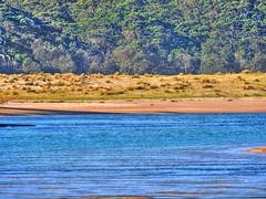 View across the lake III (elphweb) Tags: hdr highdynamicrange nsw australia beach water lake sea ocean sand sandy