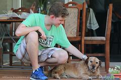 Ilija & Čeda (srkirad) Tags: friend animal dog weekend outdoor serbia srbija pančevo picnic barbecue flowers