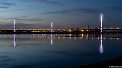 MerseyGateway at dusk.jpg (m.burke) Tags: landscape merseygateway reflections runcorn viaduct widnes fiddlersferry bridge dusk