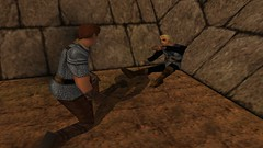 Conversing With Brother (Chainmail Shirt & Leather Gloves & Boots) #2 (BarricadeCaptures) Tags: kingsquest kingsquestmaskofeternity maskofeternity dimensionofdeath connorofdaventry connor chainmail chainmailshirt leathergloves leatherboots brother wounded woundedbrother gamescreenshots gamephotography videogame screencapture screenshot screencap