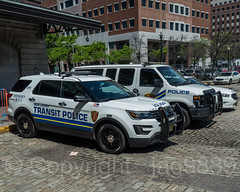 New Jersey Transit Police Vehicles, Hoboken Terminal, New Jersey (jag9889) Tags: 2018 20180521 auto automobile car cobblestone firstresponder gardenstate hoboken hudsoncounty lackawanna lawenforcement nj njtransit njt newjersey newjerseytransit outdoor police policedepartment policepatrolcar terminal transportation usa unitedstates unitedstatesofamerica van vehicle jag9889