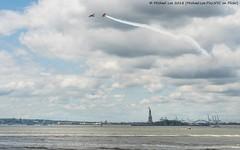 Fleet Week 2018 (20180523-DSC03155-Edit) (Michael.Lee.Pics.NYC) Tags: newyork fleetweek statueofliberty batterypark newyorkharbor planes flume smoke clouds cityscape sony a6500 fe24105mmf4g