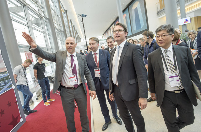 Kaspars Ozoliņš, Uldis Augulis, Andreas Scheuer and Young Tae Kim visiting