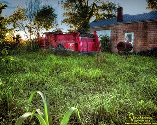 Fire Truck behind the Alanthus Hill Community Center, Tazewell TN