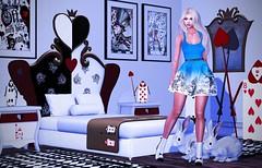 In A World Of My Own (lauragenia.viper) Tags: anlar beedesigns bento catwa catya dela enchantment euphoric glamaffair izzies maddict maitreya moonsha secondlife secondlifefashion whimsical wiccaswardrobe avatar virtual girl female alice wonderland rabbit bed bedroom indoor dress fashion frame furniture decor throughthelookingglass boots blond blonde lovely cute laurageniaviper secondlifemodel secondlifeblogger event gacha belt