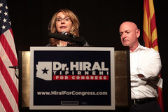 Gabrielle Giffords & Mark Kelly (Gage Skidmore) Tags: gabrielle giffords congresswoman gabby hiral tipirneni mark kelly campaign rally congress sun city grand arizona