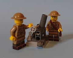 WW1 British 9. 45 inch heavy mortar (KPFR5Q2XZXQW774THJOIGWTBCI) Tags: lego ww1 worldwar british trench greatwar tommy westernfront mortar unitedbricks