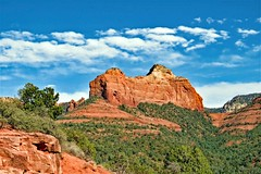 Sedona Supreme (moonjazz) Tags: geology arizona sedona travel photography senic vista sky clouds landscape sandstone earth nature beauty desert viewpoint timeless sage color vivid sunny blue green canon moonjazz