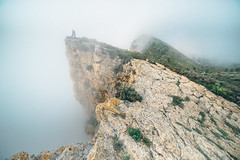 Cap Canaille. (Matthieu Robinet) Tags: 2018 avril nature provence incredible magic magical landscape escape exploring freshairclub hiking climber soft relief curves mountain powerful green depth insane sport active outdoor idle ignant shoot sea clouds massive cloudy spring picoftheday fineart coast french fog moody invisible altitude vertigo wide wild