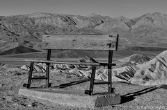 Bench - Death Valley National Park_B&W_20893 (www.karltonhuberphotography.com) Tags: 2014 abstract bw background beautiful bench blackandwhite california claystone color deathvalley deathvalleynationalpark depthoffield details foreground foregroundinterest formations frame geologichistory geologicwonder geology horizontal inspiring intriguing karltonhuber landscape landscapephotography lines morning morninglight mountainpeaks nationalpark naturalworld nature nikkor70200vrii nikond7000 patterns peaceful relaxing rocks rolling siltstone sunrise texture view viewpoint wavy wonder