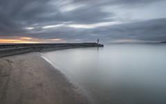 West Pier sunset (Peter Henry Photography) Tags: sea harbour pier lighthouse sunset colour sky longexposure whitehaven cumbria sand coast