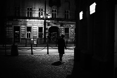 The seduction of dark shadows 248.365 (ewitsoe) Tags: cityscape ewitsoe spring warszawa erikwitsoe night poland streetphotography urban warsaw filmnoir cinema corner womna lonefigure street shadows cntral mood atmosphere city eerie