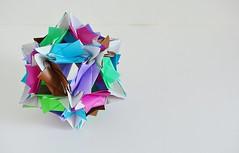 Pavia Kusudama (Byriah Loper) (Byriah Loper) Tags: origami origamimodular modularorigami modular byriahloper kusudama paperfolding paper polygon polyhedron geometric wireframe