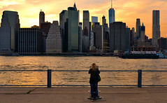 special view (poludziber1) Tags: people ny nyc newyork manhattan yellow sunset usa america city cityscape urban travel river skyline