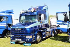 Chris Hayter Transport Scania T124L K8CHT Peterborough Truckfest 2018 (davidseall) Tags: chris hayter transport scania t series t124l cab vabis truck lorry tractor unit artic large heavy goods vehicle lgv hgv peterborough truckfest may 2018
