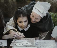 L'apprentissage (thierry-manach.com) Tags: ancien old sépia femme portrait famille family ecriture young women