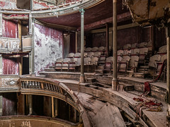 Abandoned theater (NأT) Tags: abandoned abandon abandonné abandonnée abbandonato abbandonata ancien ancienne alone architecture zuiko explorationurbaine em1 exploration explore exploring empty explo explored balcon balcony theater théâtre teatro spectacle show artist artists trespassing ruins rotten neglected decay decaying derelict dust decayed dusty urbex urban urbain urbaine urbanexploration interdit interdite intérieur interior inside interieur inexplore olympus omd old building forgotten