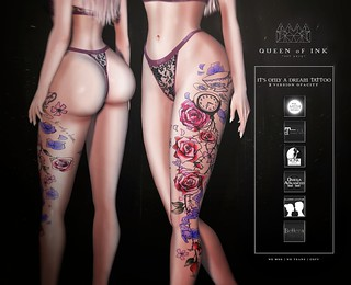*Queen oF Ink - It's only a dream Tattoo @Enchantment