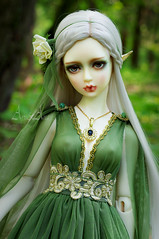 Elf Forest (AyuAna) Tags: bjd ball jointed doll dollfie ayuana design minidesign handmade ooak clothing clothes dress set outfit gown robe vetement fashion couture sewing sewingfordolls sd sd13 sd10 ordoll eris hybrid sadol love60 body whiteskin