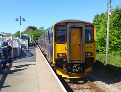 150238 Gunnislake (2) (Marky7890) Tags: gwr 150238 class150 sprinter 2g72 gunnislake railway cornwall tamarvalleyline train