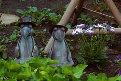 Gartenwächter (BuckBumbl) Tags: skulpturen blumen garten