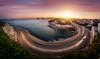 Corniche Kennedy (Halogénure) Tags: sunset sunrise dramaticsky twilight dawn moodysky horizon viewintoland scenics townscape cotedazur france populartags marseille night europe see landscapes landscape longexposure panorama panoramic cassis provence medterranee mediterranean water blending