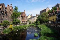 Dean Village, Edinburgh (p.mathias) Tags: deanvillage edinburgh scotland river stream history unitedkingdom city village leith waterofleith sony csc a5100 europe bluesky historical green
