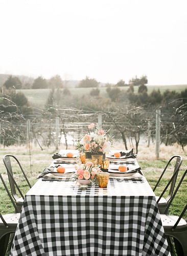 "Black Gingham Table Setting with Bistro Chairs • <a style=""font-size:0.8em;"" href=""http://www.flickr.com/photos/81396050@N06/27410851497/"" target=""_blank"">View on Flickr</a>"