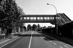 /¯\ (gambajo) Tags: 1year1town1lens brühl project blackandwhite blackwhite black white street bridge shadows outdoors public cars windows lines x100s fujix100s fujifilmx100s