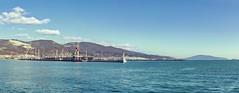 Новороссийский морской торговый порт (vikkay) Tags: новороссийск порт море пейзаж горы