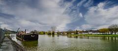 Barge CUSTIN (YᗩSᗰIᘉᗴ HᗴᘉS +15 000 000 thx) Tags: barge péniche boat water meuse laowa laowa12mm sky clouds hensyasmine namur belgium europa aaa namuroise look photo friends be wow yasminehens interest intersting eu fr greatphotographers lanamuroise