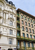 Neo-Baroque meets Secession (Tiigra) Tags: wien austria at 2017 architecture artnouveau balcony city column lattice mural neobaroque ornament painting repetition tiles vienna window pattern