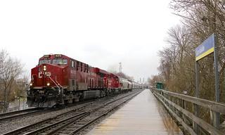 Grain train in the rain