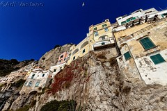 Gabbiano su Amalfi! (Fotografo per Diletto (The Original)) Tags: building city architecture sky mountain outdoors rock tourism town outdoor travel noperson terrain housing monastery rocky castle old geologicalphenomenon side fort sign soil ancient cliff top village large summer sitting urban house mountainrange hill solarpanels traditional facade train road elevation view dirt alley gothic riding alleyway vacation amalfi gabbiano