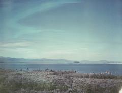 tufa towers (lawatt) Tags: tufa mono lake eastern sierra highway 395 landscape monocounty california film polaroid 669 automatic250