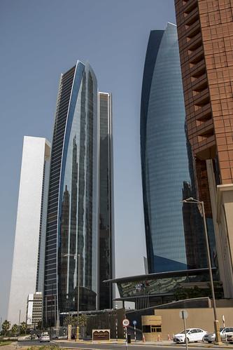 Street view of the Etihad Residences, Abu Dhabi