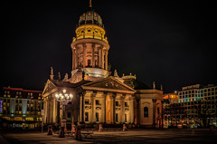 German Cathedral at Gendarmenmarkt in Berlin at night (Peter's HDR hobby pictures) Tags: petershdrstudio hdr berlin cathedral night nacht kirche